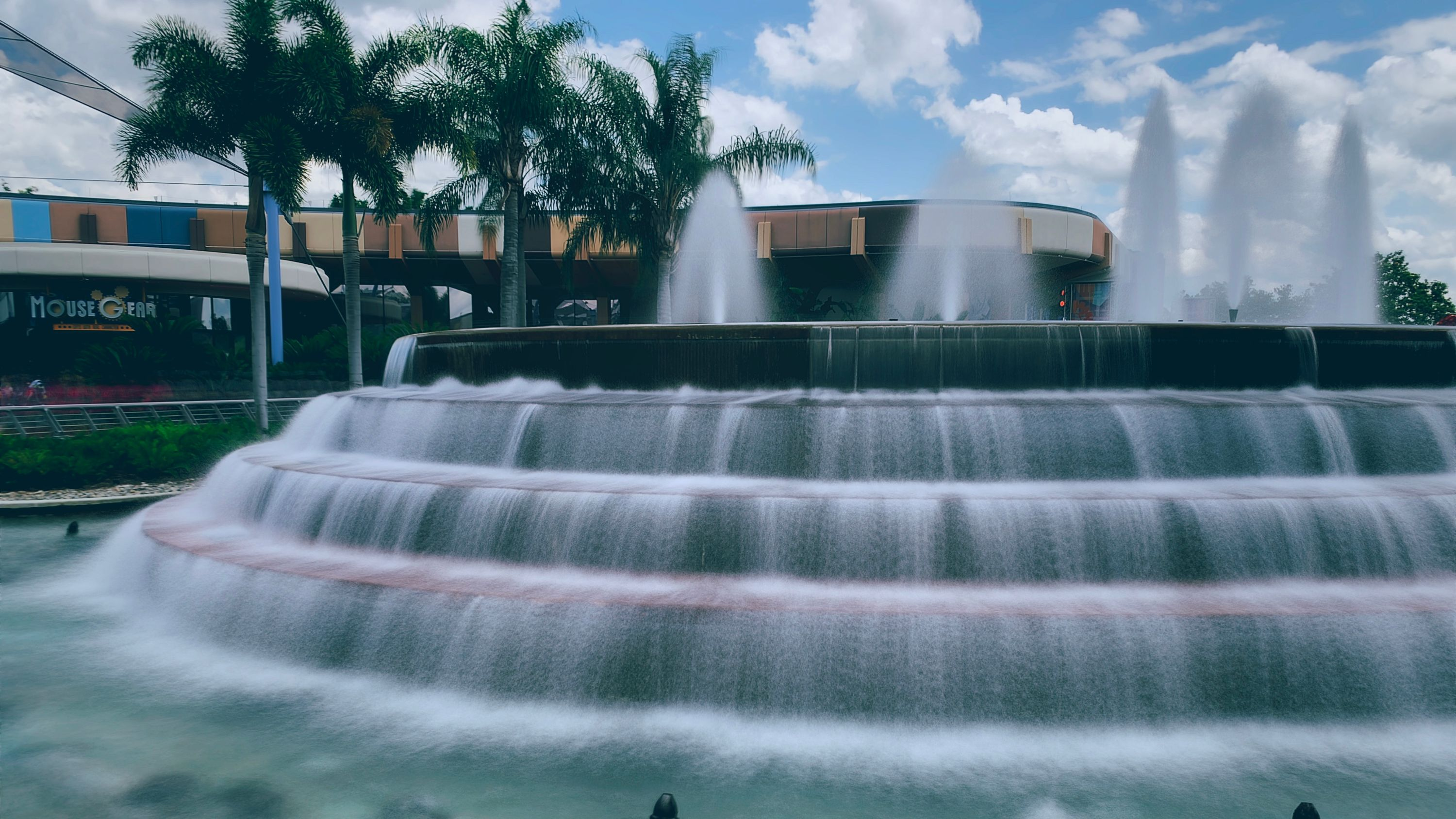 Water feature in Epcot.